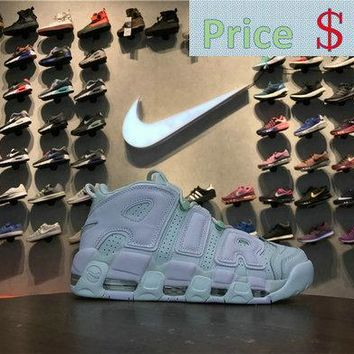 Popular Nike Air More Uptempo MINT Barely Green 917593 300 barely green white shoe