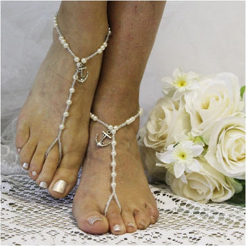 ANCHOR AMOUR wedding barefoot sandals