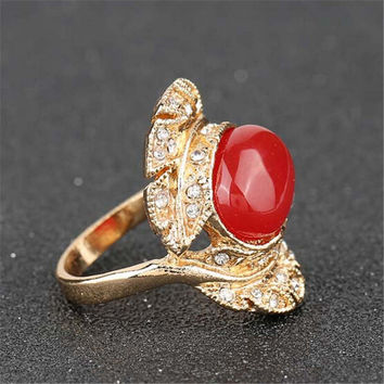 Womens Girls Party Vintage Gold Ring Best Gift Rings-09