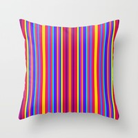 colorful stripes Throw Pillow by 2sweet4words Designs