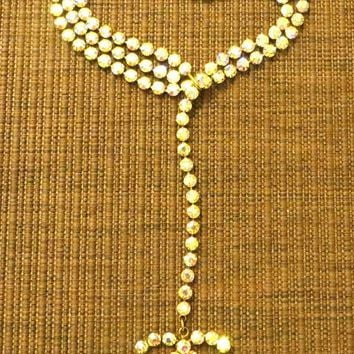 ONETOW RARE,HARD TO FIND!EXQUISITE CHANEL MULTICOLOUR SPARKLE STONE NECKLACE OR BELT