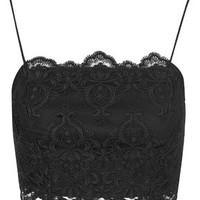 Deco Lace Bralet - Black