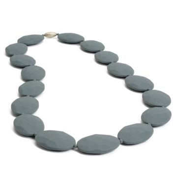 Chewbeads Hudson Teething Necklace - Stormy Grey