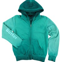 Butter Kids Oil Wash Lips Hoody - Turquoise