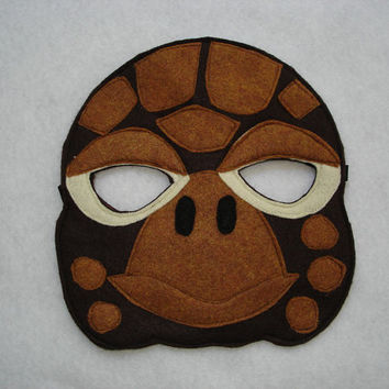 Children's Turtle Felt Mask