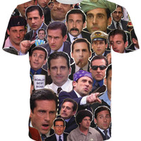 2016 Many Faces of Michael Scott Paparazzi T-Shirt Fashion Summer Style 3d Printed T Shirt Character Tees  For Women men