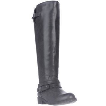 madden girl Canyonwc Riding Boots, Black, 6.5 US