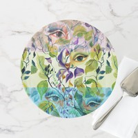 Fashionable chic painted eyes cake stand
