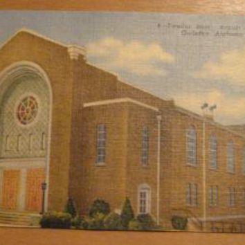 Vintage Twelfth Street Baptist Church Gadsden Alabama Postcard