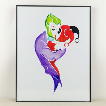 Joker and Harley Quinn Art: Insane Romance
