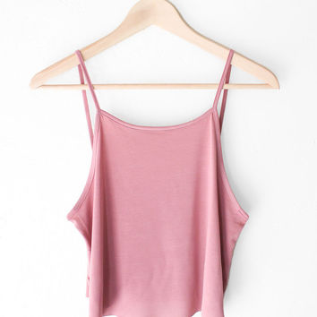 Basic Cropped Cami - Vintage Rose