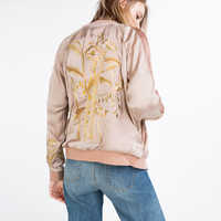 EMBROIDERED BOMBER-STYLE JACKET