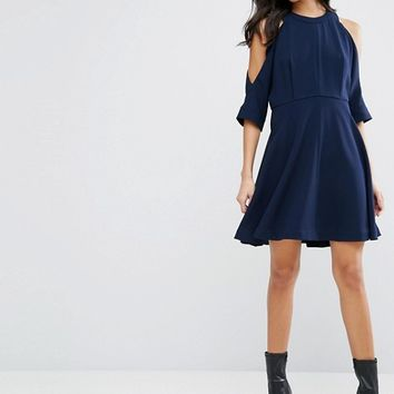 Whistles Josephine Cold Shoulder Dress at asos.com