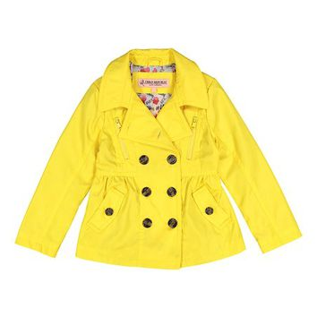Urban Republic Canary Yellow Trench Coat - Toddler