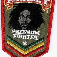 Bob Marley - Freedom Fighter Patch