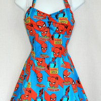 Custom size. Super hero Spiderman dress