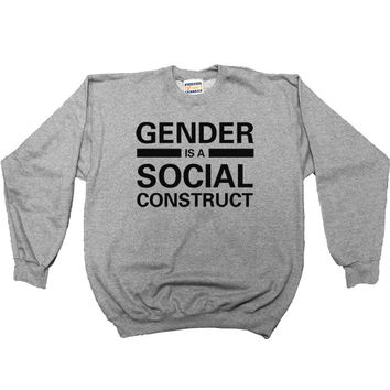 Gender is a Social Construct -- Youth Sweatshirt