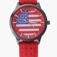 Flag Pattern Wrist Watch