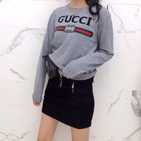 """Chanel"" Women Casual Fashion All-match Classic Letter Logo Long Sleeve Knit Sweater Tops"
