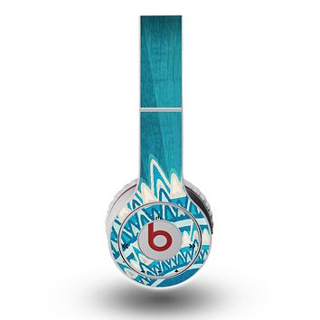 The Blue Spiked Orb Pattern V3 Skin for the Original Beats by Dre Wireless Headphones