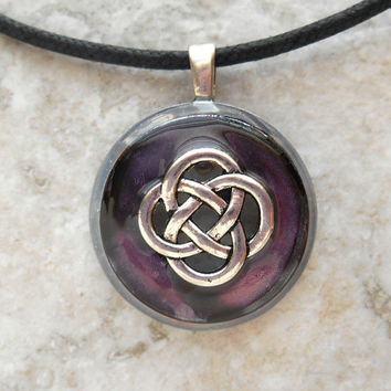 celtic knot necklace: heather - mens jewelry - mens necklace - celtic jewelry - boyfriend gift - irish jewelry - unique gift - fathers day