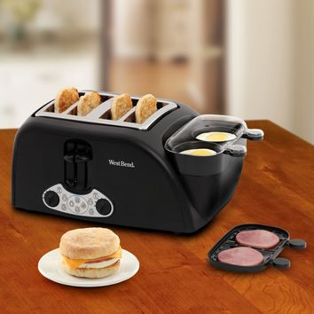 West Bend TEM500W Egg and Muffin Toaster