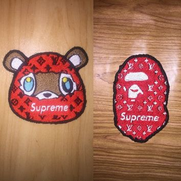 Kanye West X Supreme X Louis Vuitton X Bape (sew on)