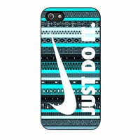 Nike Aztec Mint Black Just Do It New iPhone 5s Case