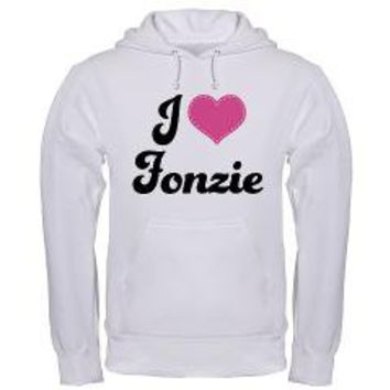 Cute I Love Fonzie Happy Days Hooded Sweatshirt> I Love Fonzie Happy Days Tee Shirts> www.cafepress.com/hometownshirt2