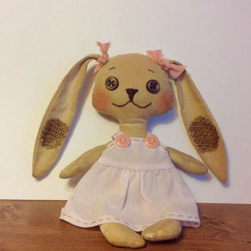 Bunny Rabbit pattern, Rabbit pattern, cloth doll pattern, doll pattern, e-pattern, softie, soft doll, PDF pattern, Sewing doll pattern, PDF