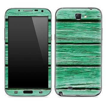 Green Aged Wood Skin for the Samsung Galaxy Note 1 or 2