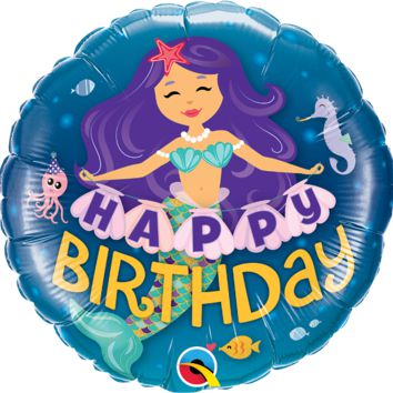 Happy Birthday Mermaid Balloon
