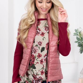 Quilted Bomber Puffer Vest | Colors
