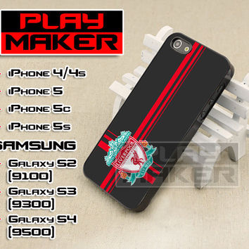 Liverpool FC Logo Design - iPhone 4/4s, iPhone 5, 5s, 5c, Samsung Galaxy i9200 s2, i9300 s3 and i9500 s4 Case