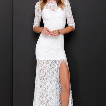 Only One Ivory Lace Maxi Dress