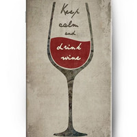 Glass Of Red Wine Pure Text OUO Retro White Trends Within Mature Girls Love Hard Case for iphone 4 4s 5 5s 5c 6 6s 6plus 6s plus