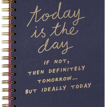Today Is The Day Hardcover Notebook