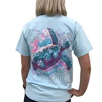Southern Attitude Preppy Watercolor Turtle Comfort Colors T-Shirt