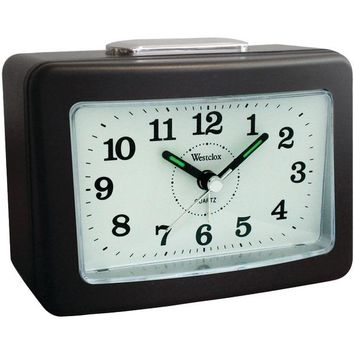 Westclox(R) 47550 Quartz No-Tick Loud-Bell Analog Alarm Clock