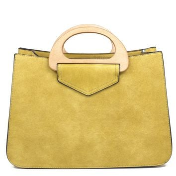 Viv Wooden Handle Satchel
