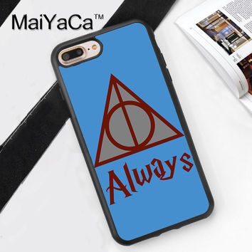 Always Harry Potter Hogwarts Printed Soft Rubber Mobile Phone Case For iPhone 6 6S Plus 7 7 Plus 5 5S 5C SE 4S Back Cover Shell