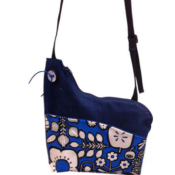Retro Garden Handmade Asymmetrical Shoulder Bag