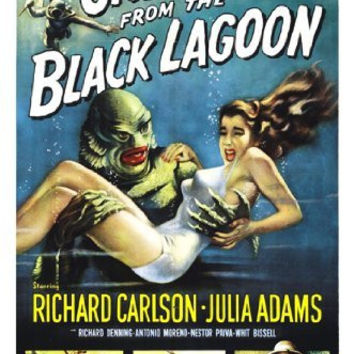 CREATURE FROM THE BLACK LAGOON MOVIE POSTER - VINTAGE