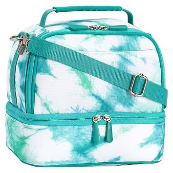 Gear-Up Ceramic Pool Tie-Dye Dual Compartment Lunch Bag