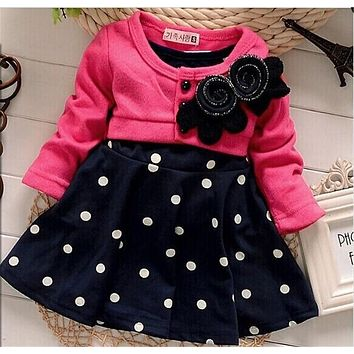 BibiCola new fashion Baby girl christmas dresses clothes
