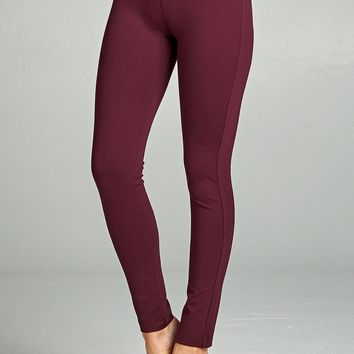 Plus Size Activewear Pants-PLUM