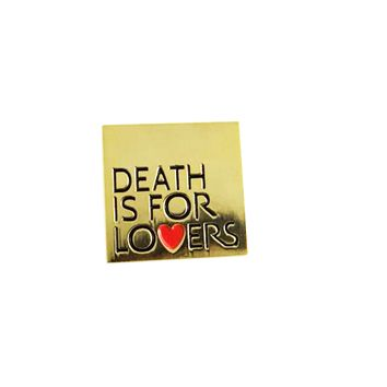 DEATH IS FOR LOVERS LAPEL PIN – BALL & CHAIN CO.