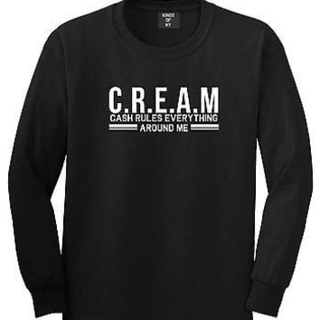 Kings Of NY Cream Cash Rules Everything Around Me Long Sleeve T-Shirt