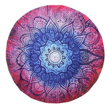 Fashion Casual Large Round Beach Indian Mandala Round Tapestry Swimming Beach Wall Hanging Towel Beach Throw Yoga Mat Boho Decor