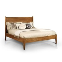 Queen-size Mid-century Wooden Paneled Platform Bed   Overstock.com Shopping - The Best Deals on Beds